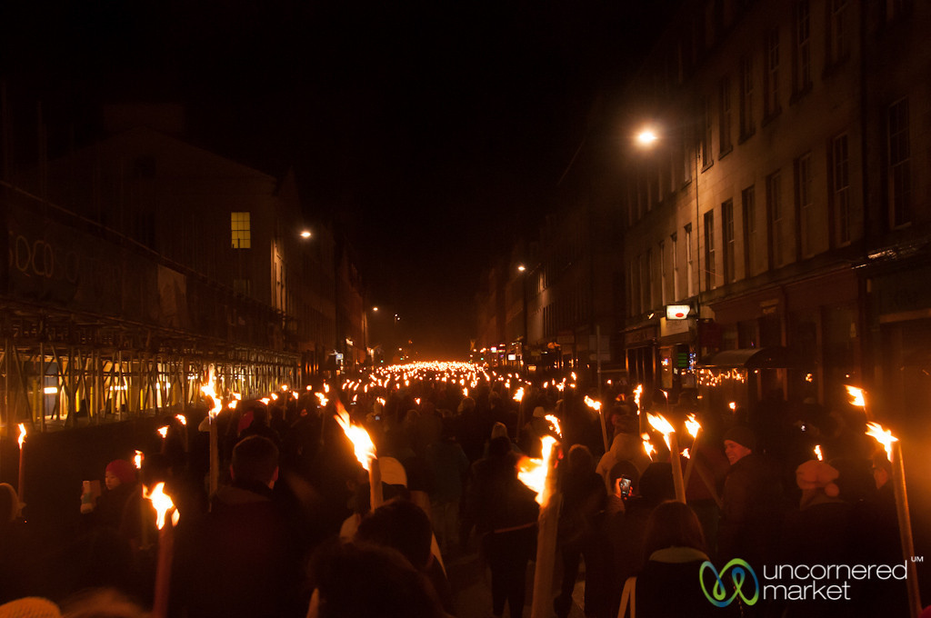 Sea of Fire at Edinburgh's Torchlight Procession