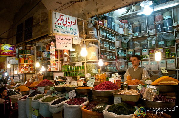 Spices and Dried Herbs - Esfahan Market, Iran