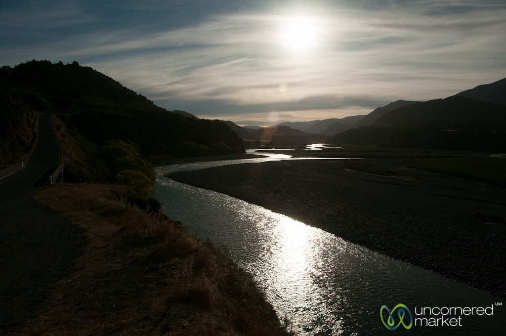 Sunset on the Way Into Hanmer Springs - New Zealand