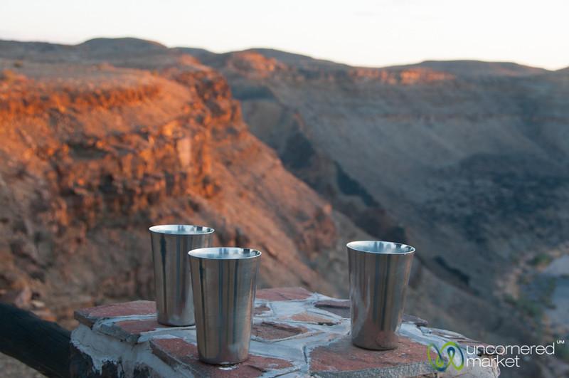 Gin & Tonic at Sundown - Fish River Canyon, Namibia