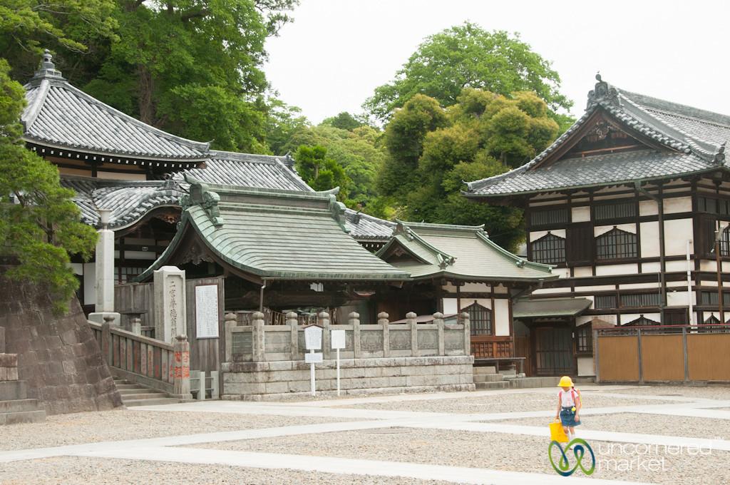 School Kid Walking Through Naritasan Shinshoji Temple - Narita, Japan