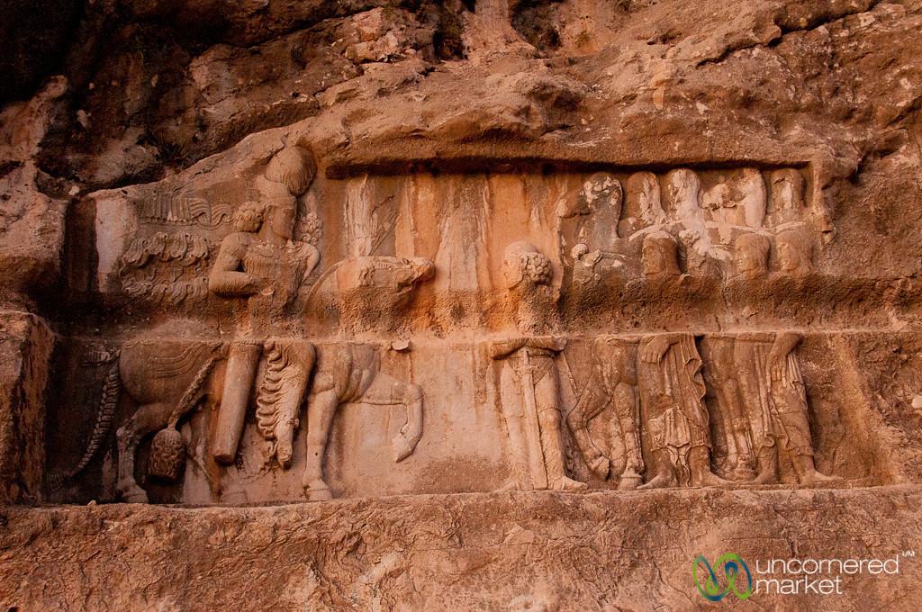 Bas-Relief Carving at Bishapur, Iran
