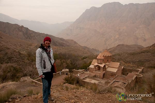 Audrey and St. Stephanos Church - Jolfa, Iran
