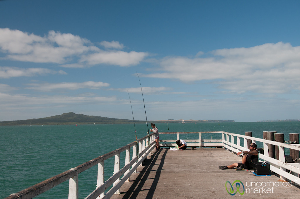 Fishing Outside of Auckland, New Zealand