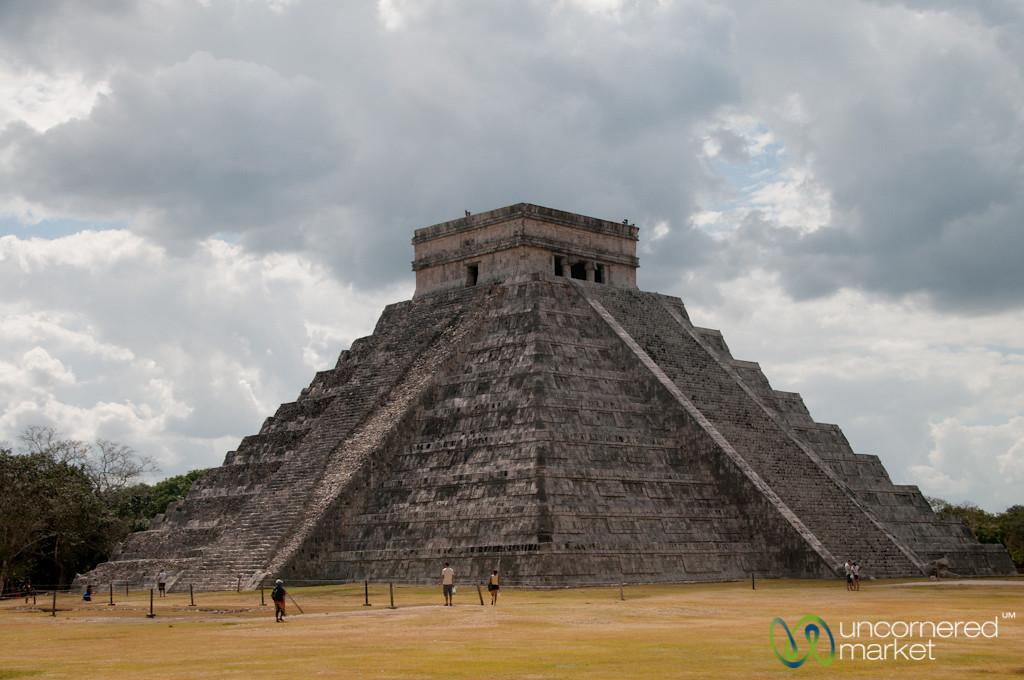 Chichen Itza's El Castillo Under Clouds - Yucatan, Mexico