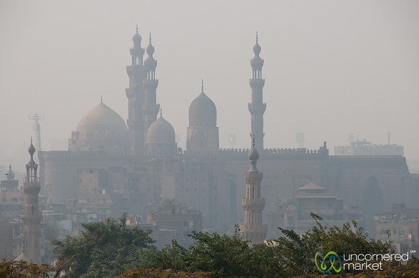 Mosque and Minaret Skyline in Cairo, Egypt