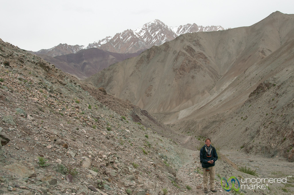 Dan in the Valley Before Yurutse Village - Markha Valley Trek, Ladakh