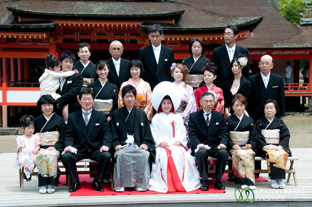 Japanese Wedding Family Photo - Itsukushima Shinto Shrine, Miyajima