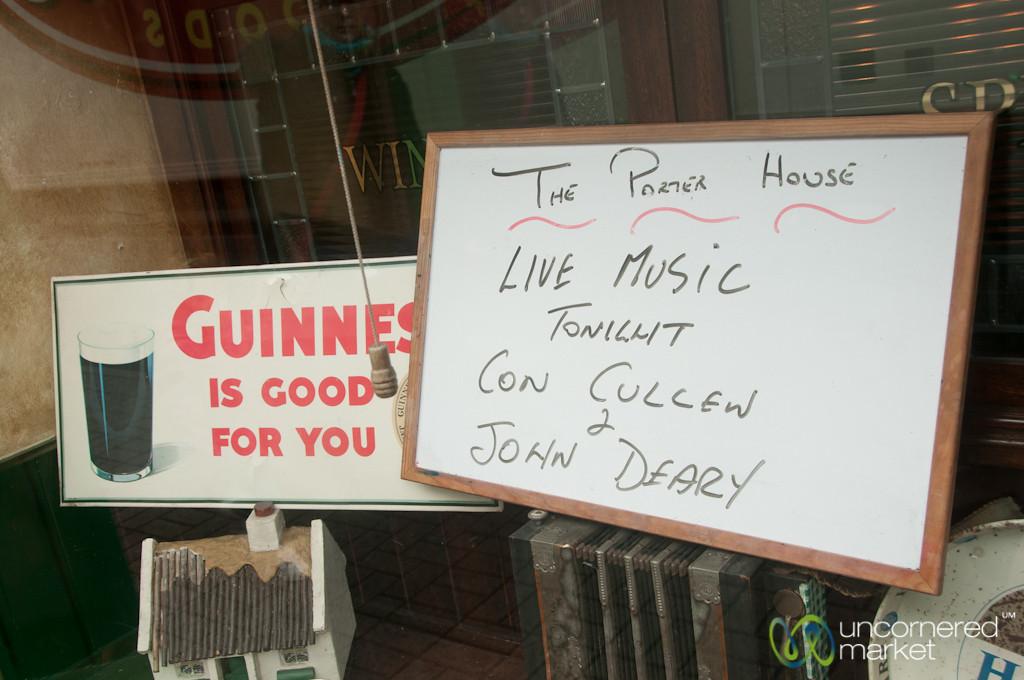 Irish Music at an Irish Pub - Westport, Ireland