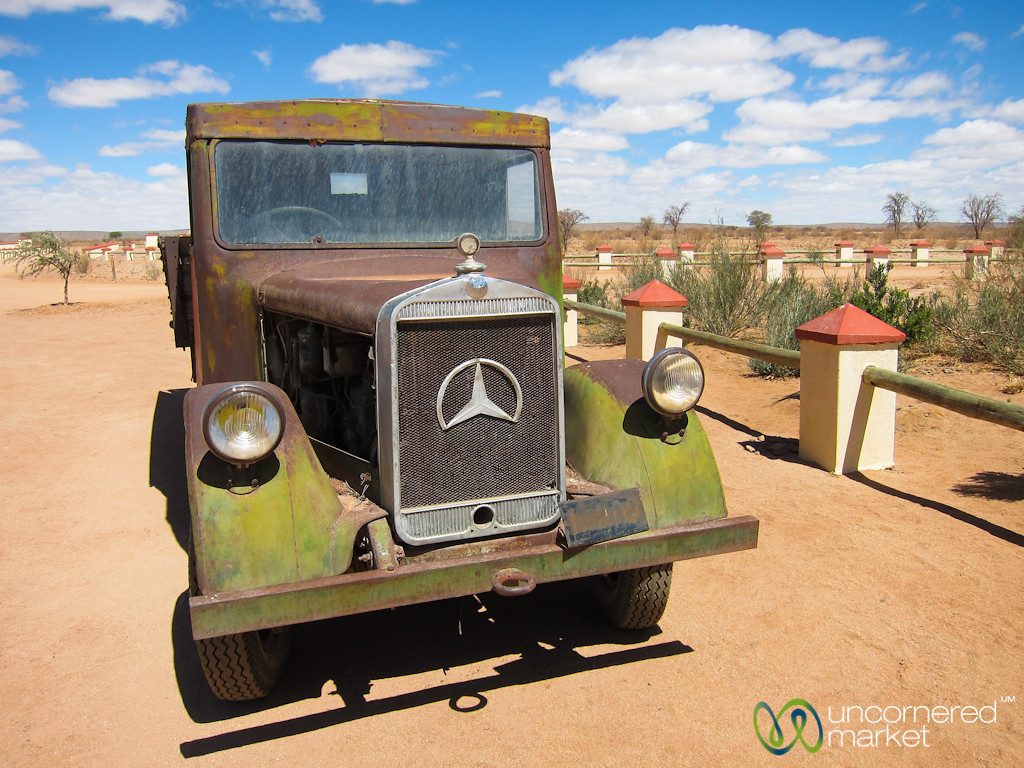 Old Mercedes at Cañon Roadhouse - Namibia