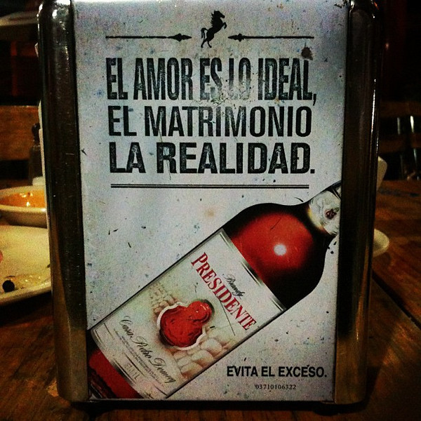 Mexican bar talk about love and marriage. #oaxaca