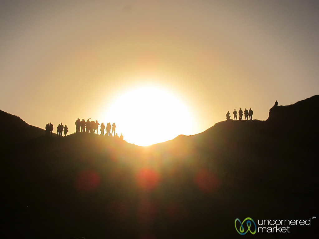 Sunset in the Desert, People Watching - Swakupmond, Namibia