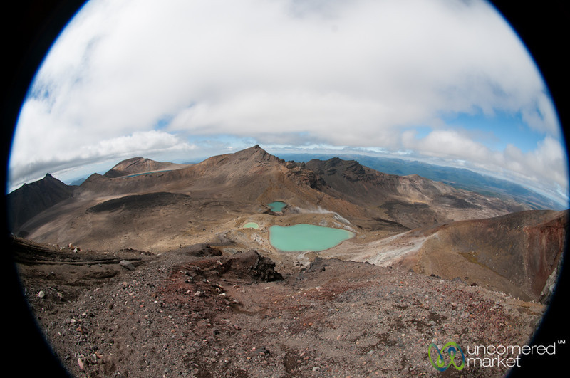 Emerald Lakes at Tongariro Crossing, Fisheye View - New Zealand