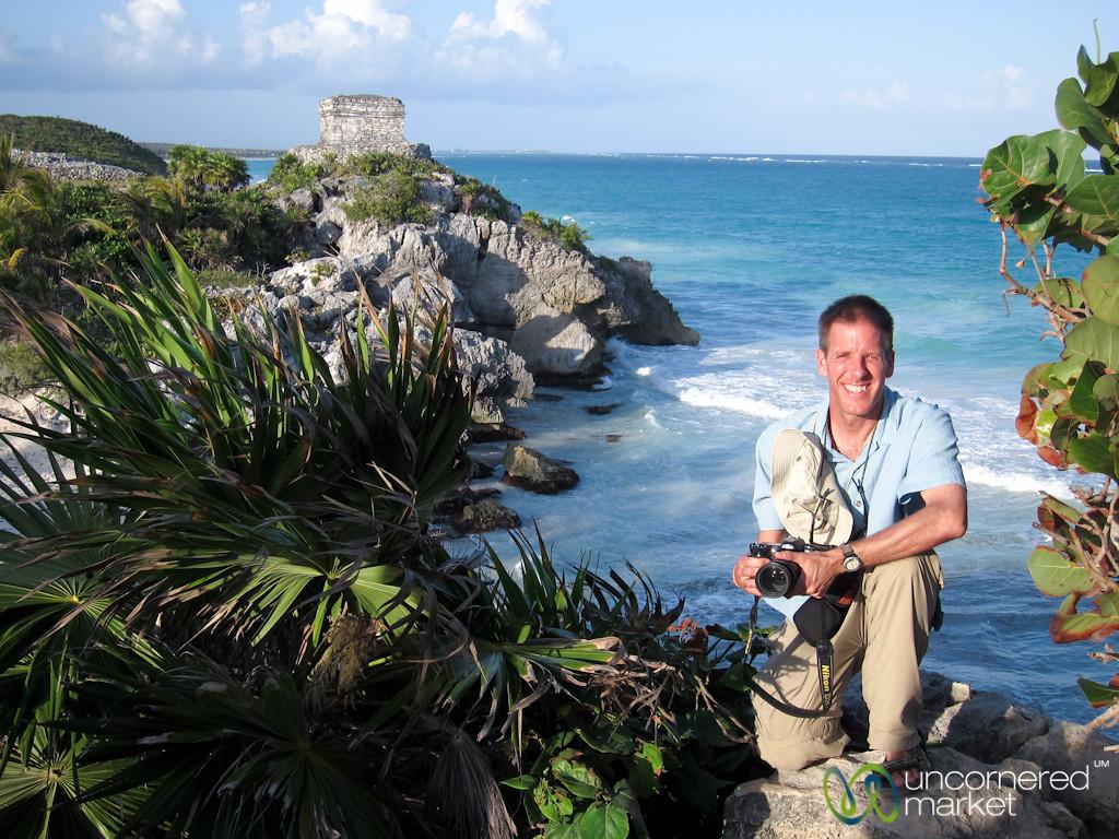 Dan at Tulum Mayan Ruins - Riviera Maya, Mexico