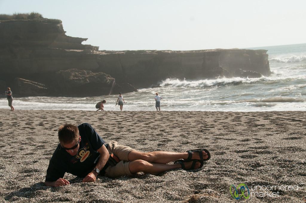 Dan on the Beach in Punaikaiki, New Zealand