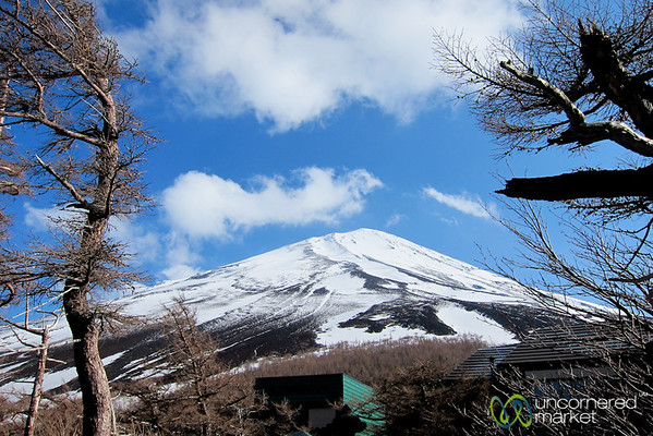 View of Mount Fuji's Peak - Japan