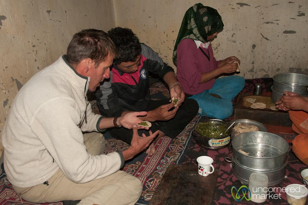 Dan Learns to Make Momos - Markha Village, Ladakh