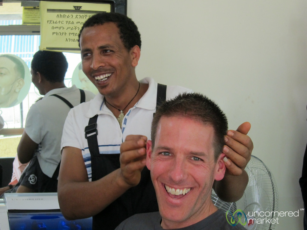 Dan's Hair Cut in Ethiopia