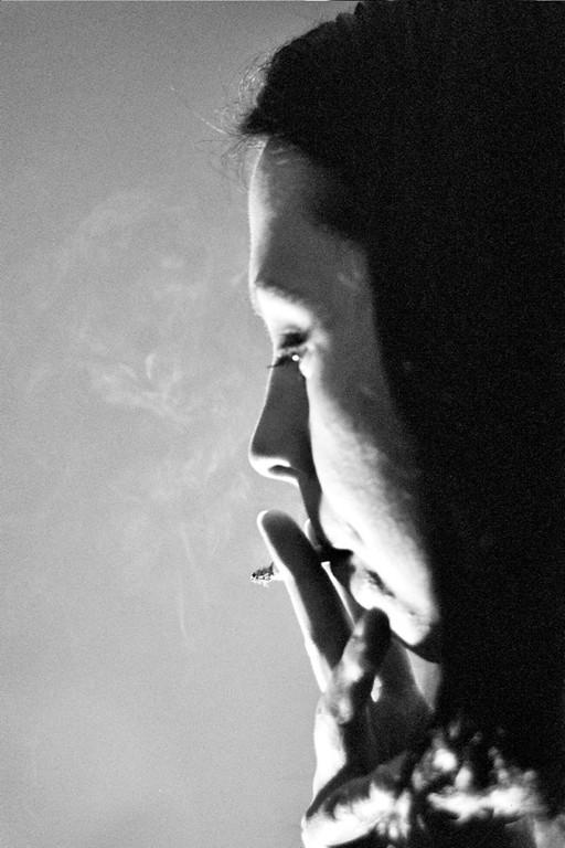 Smoking Girl - Prague, Czech Republic