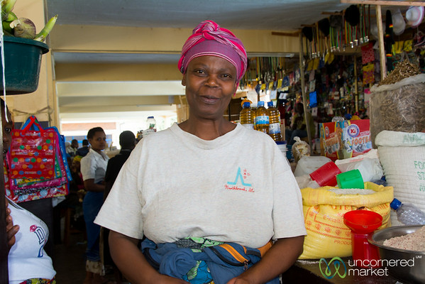 Friendly Vendor at the Kibuye Market, Rwanda