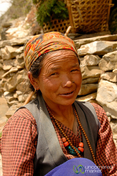 A Sly Smile On Way Home - Annapurna Circuit, Nepal
