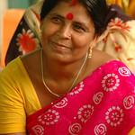 Indian Woman in a Sari - West Bengal, India