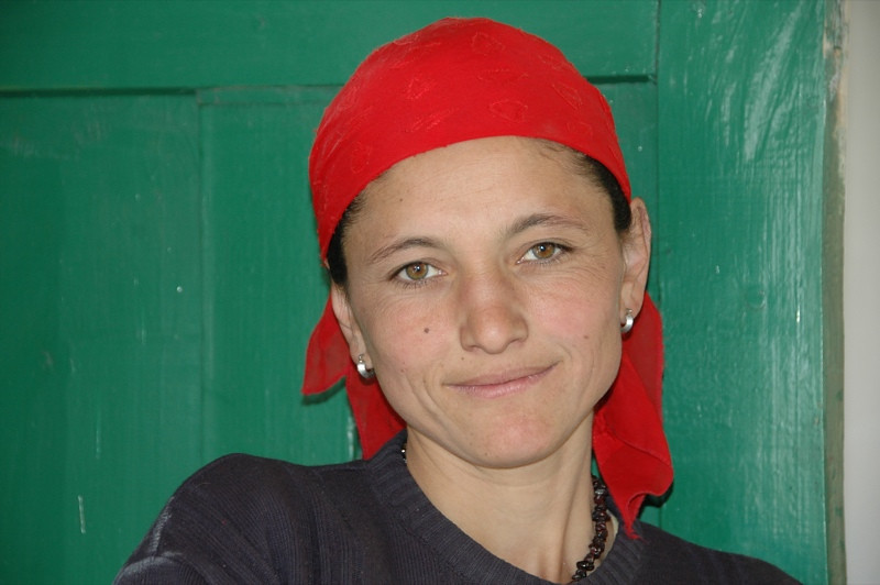 Pamiri Woman and Teacher - Langar, Tajikistan