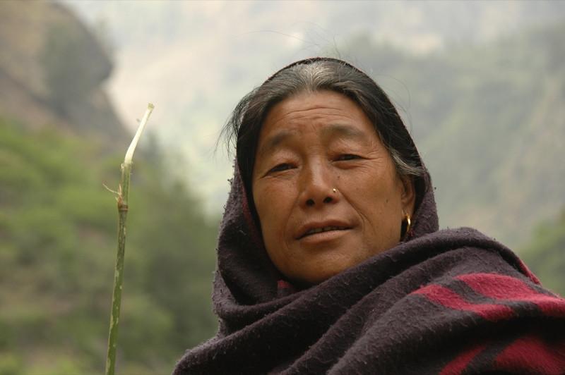 Nepali Woman - Annapurna Circuit, Nepal