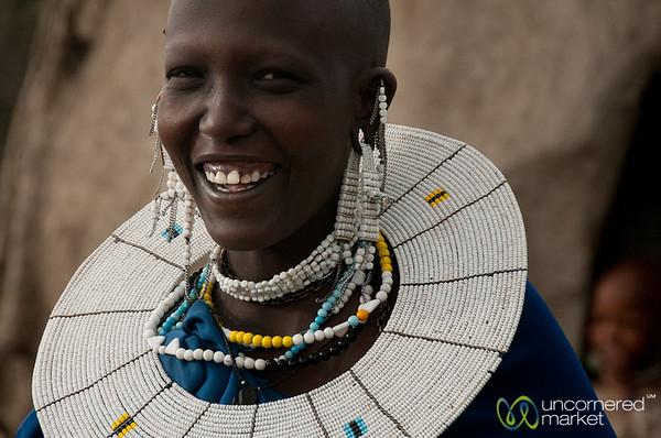 Masai Woman and Laughter - Lake Manyara, Tanzania