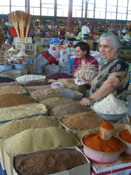 Grains, Beans, Spices at Market - Yerevan, Armenia