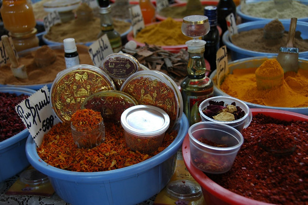 Spices at the Market: Saffron - Yerevan, Armenia