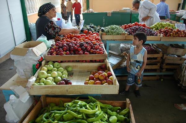 Little Boy at the Taza Market - Baku, Azerbaijan