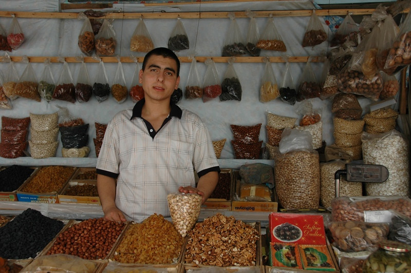 Dried Fruits and Nuts at Taza Bazaar - Baku, Azerbaijan