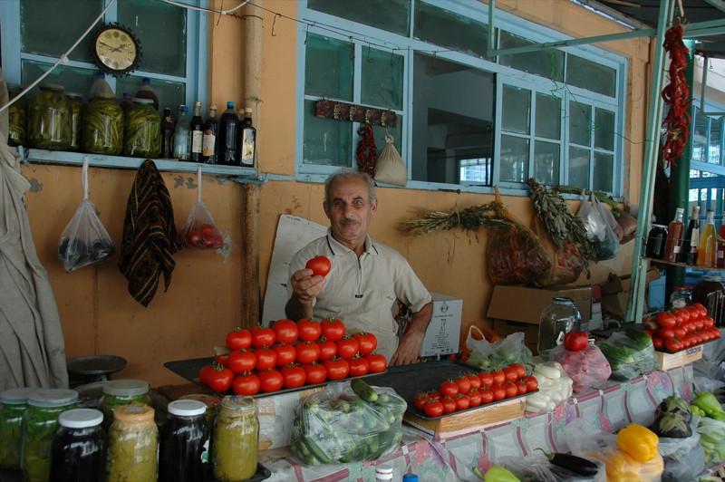 Market Vendor at Taza Bazaar - Baku, Azerbaijan