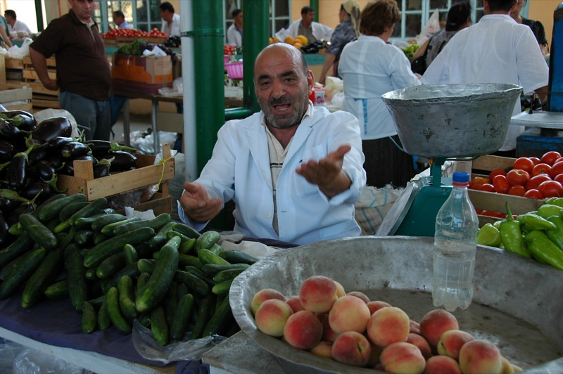 Vendor at Taza Market - Baku, Azerbaijan