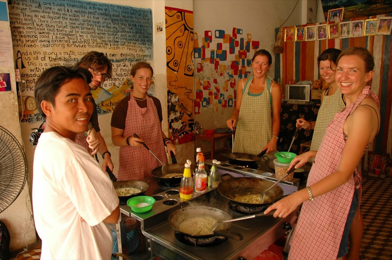 Cooking Group - Battambang, Cambodia