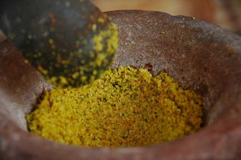 Grinding Paste for Stir Fry - Battambang, Cambodia