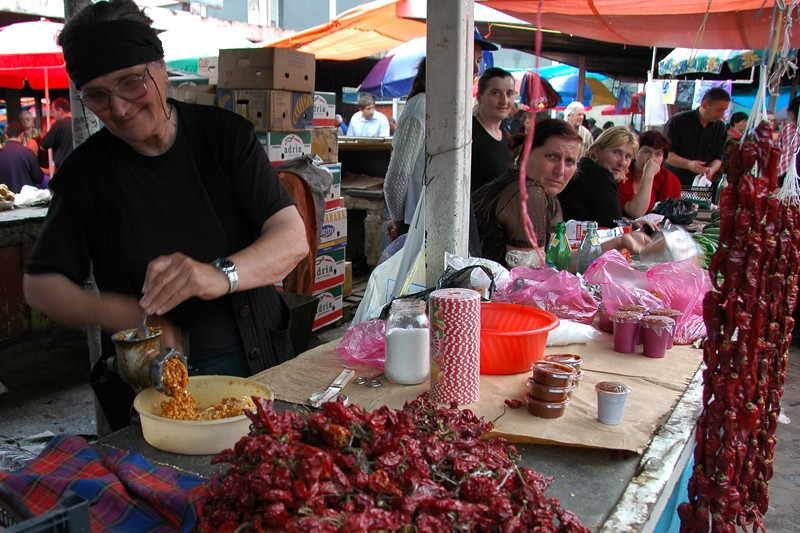Making Adjika - Tbilisi, Georgia