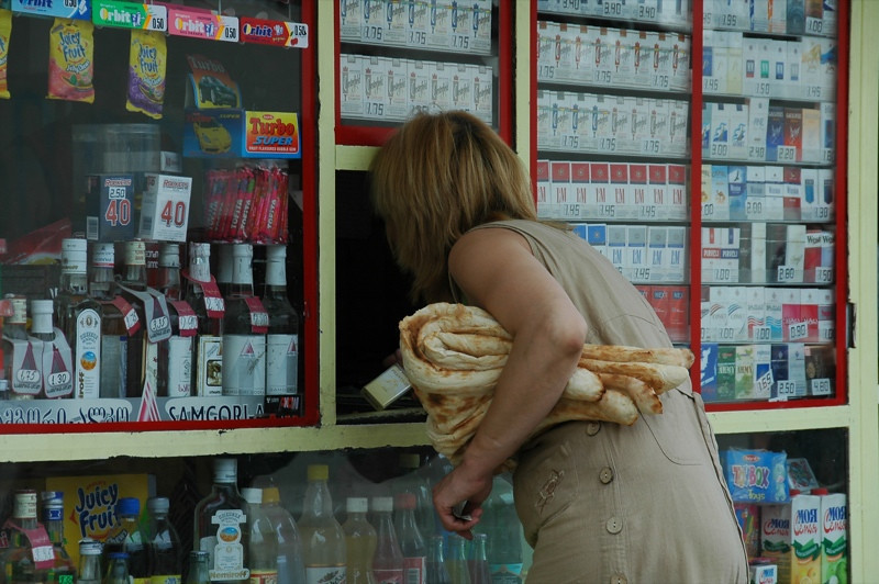 Woman Buying Tonis Puri - Tbilisi, Georgia