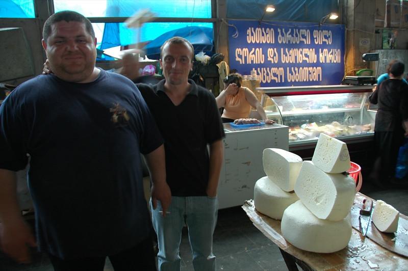 Men at the Main Market - Tbilisi, Georgia