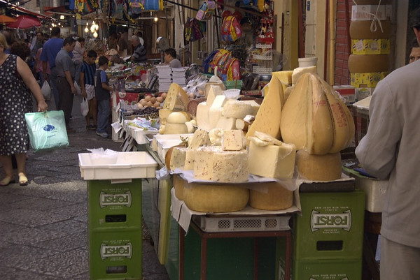 Cheese Stand at the Daily Market - Palermo, Sicily