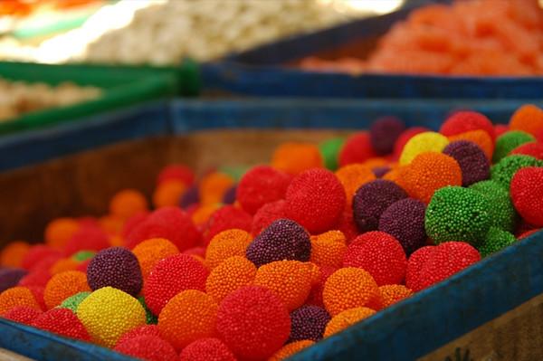 Colorful Sweets, Osh Bazaar - Bishkek, Kyrgyzstan