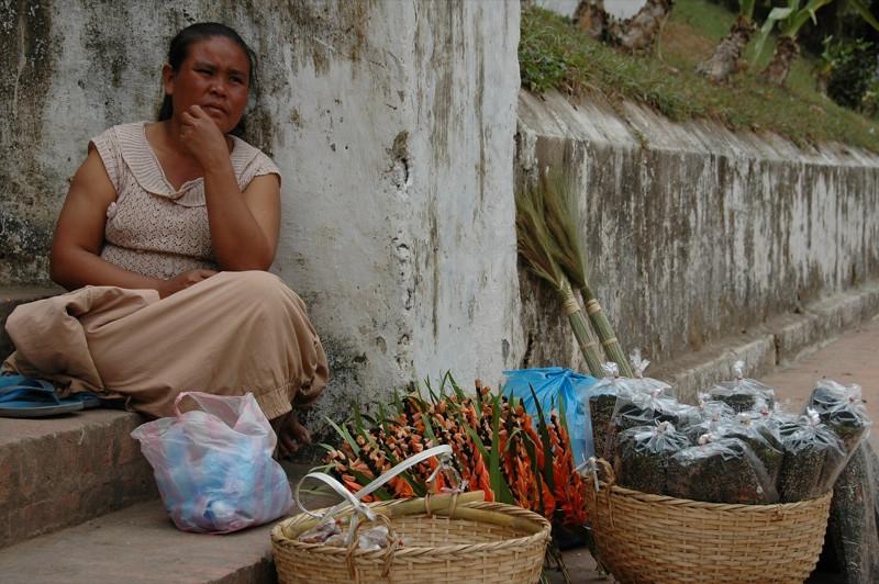 Phu Si Vendor - Luang Prabang, Laos