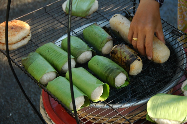 Grilled Sticky Rice and Banana - Mekong Delta, Vietnam