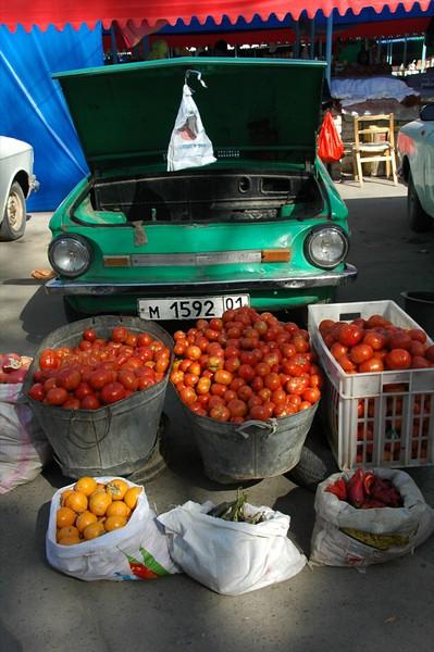 Tomatoes at Varzob Bazaar - Dushanbe, Tajikistan