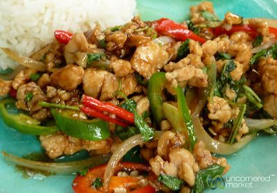 Gai Pad Gra Pow (Basil Chicken) - Koh Samui, Thailand