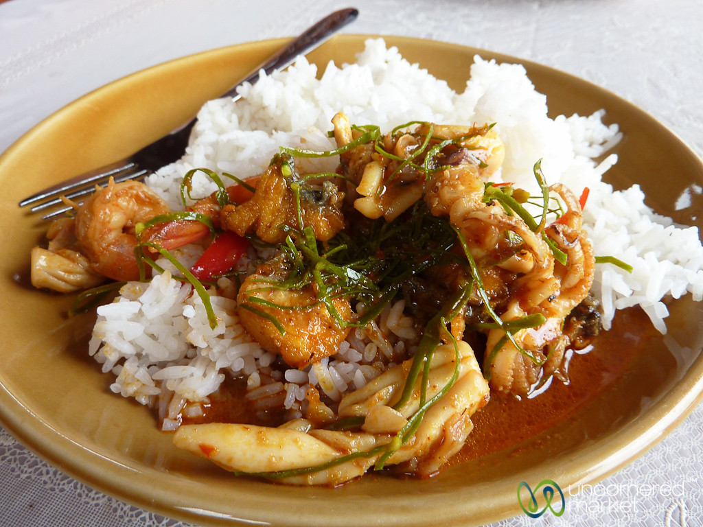 Spicy Penang Seafood Curry - Koh Samui, Thailand