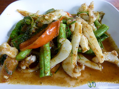 Dry Fry Curry with Squid - Koh Samui, Thailand