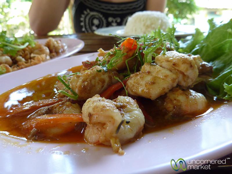 Shrimp and Fish Penang Curry - Haad Yao, Thailand