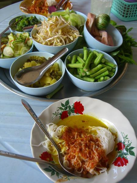 Kanom Jeem soup - Krabi, Thailand